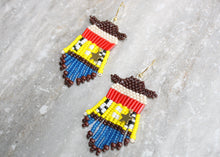 Load image into Gallery viewer, Toy Story Sheriff Woody-Inspired Beaded Earrings