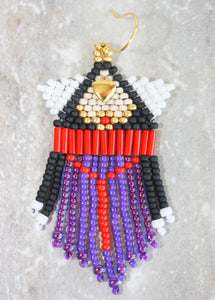 Evil Queen-Inspired Beaded Earrings