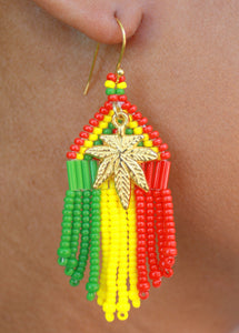 Rasta with Cannabis Pendant