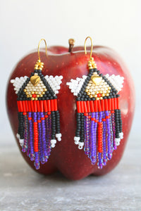 Evil Queen Beaded Earrings