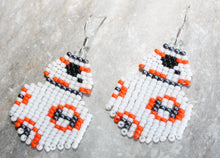 Load image into Gallery viewer, BB-8 Inspired Beaded Earrings