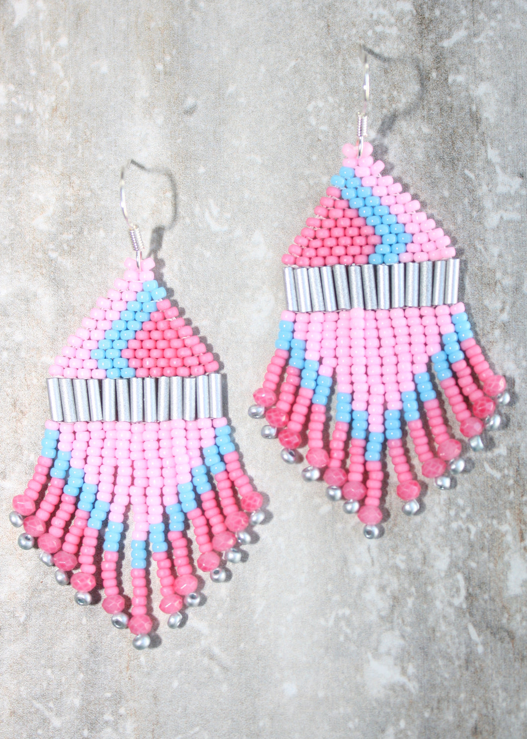 EPCOT Bubblegum Wall-Inspired Beaded Earrings