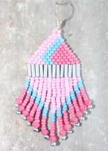 Load image into Gallery viewer, EPCOT Bubblegum Wall-Inspired Beaded Earrings