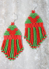 Load image into Gallery viewer, Christmas Mickey Mouse Beaded Earrings