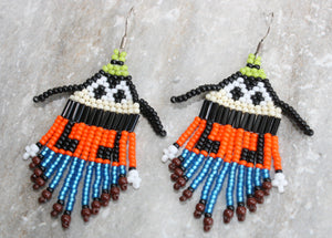 Goofy-Inspired Beaded Earrings