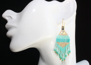 Princess Jasmine-Inspired Beaded Earrings