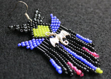 Load image into Gallery viewer, Maleficent Beaded Earrings