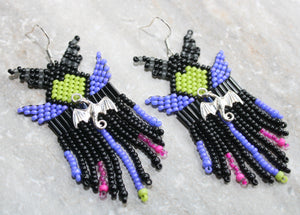 Maleficent-Inspired Beaded Earrings