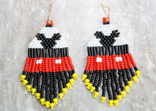 Load image into Gallery viewer, Mickey Mouse Beaded Earrings