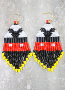 Mickey Mouse-Inspired Beaded Earrings