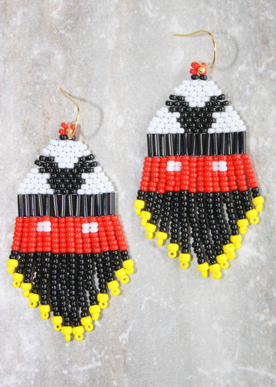 Mickey Mouse Beaded Earrings