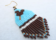 Load image into Gallery viewer, Mickey Ice Cream Bar-Inspired Beaded Earrings