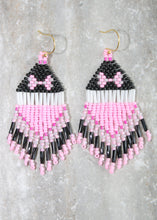 Load image into Gallery viewer, Minnie Mouse-Inspired Beaded Earrings. Classic Pink!