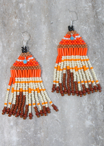 Moana-Inspired Beaded Earrings