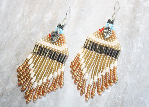 Pocahontas-Inspired Beaded Earrings