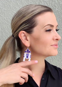R2-D2 Inspired Beaded Earrings