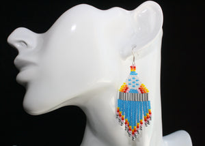 Retro EPCOT-Inspired Beaded Earrings