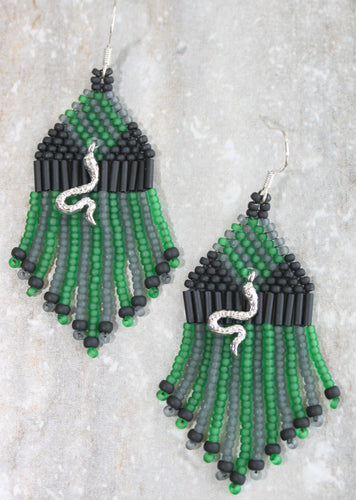 Harry Potter Slytherin-Inspired Earrings