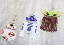 Load image into Gallery viewer, Baby Yoda-Inspired Beaded Earrings