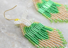 Load image into Gallery viewer, Tinker Bell-Inspired Beaded Earrings