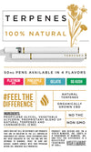 CBD Pen - Platinum Terpenes Gelato & Rose Pack 50mg