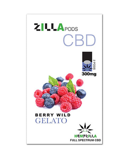 300mg CBD Juul Compatible Pods  2-Pack – Berry Wild Gelato