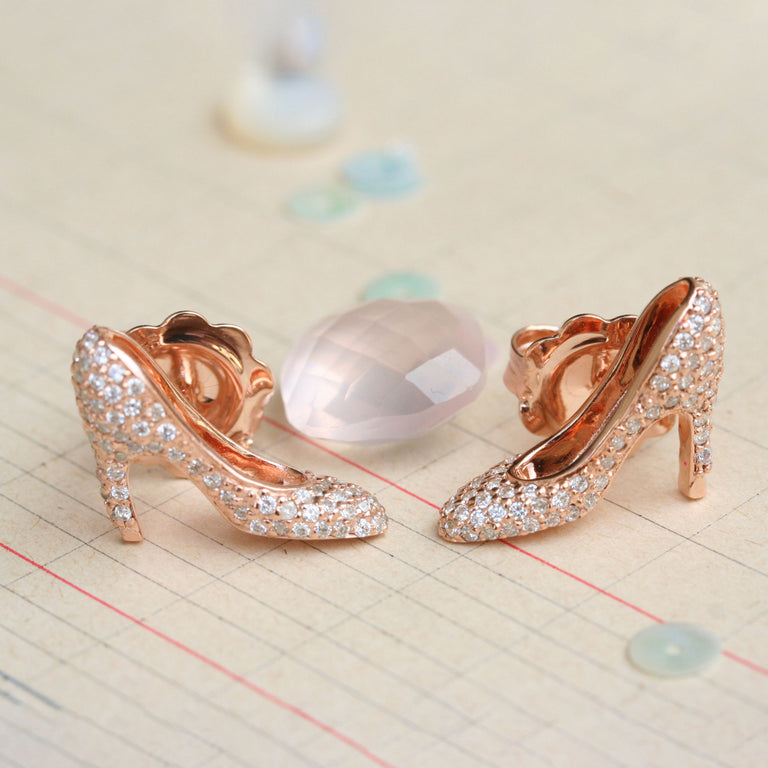 Precious pink heel earrings