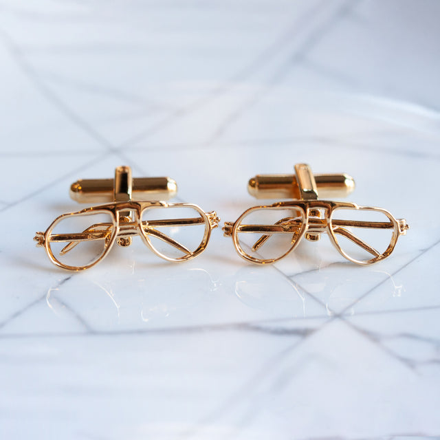 Articulated glasses cufflinks