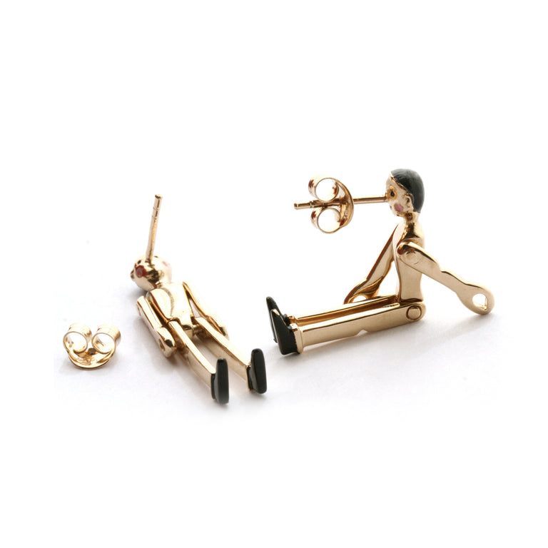 Golden Pinocchio earrings