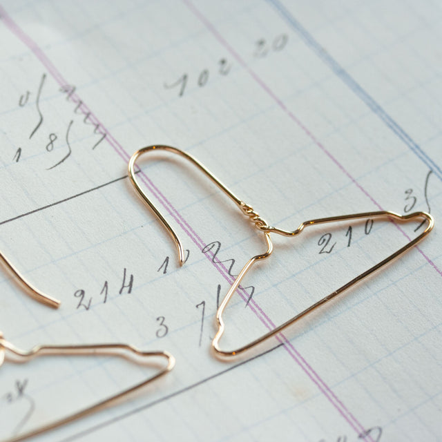 Gold hanger earrings