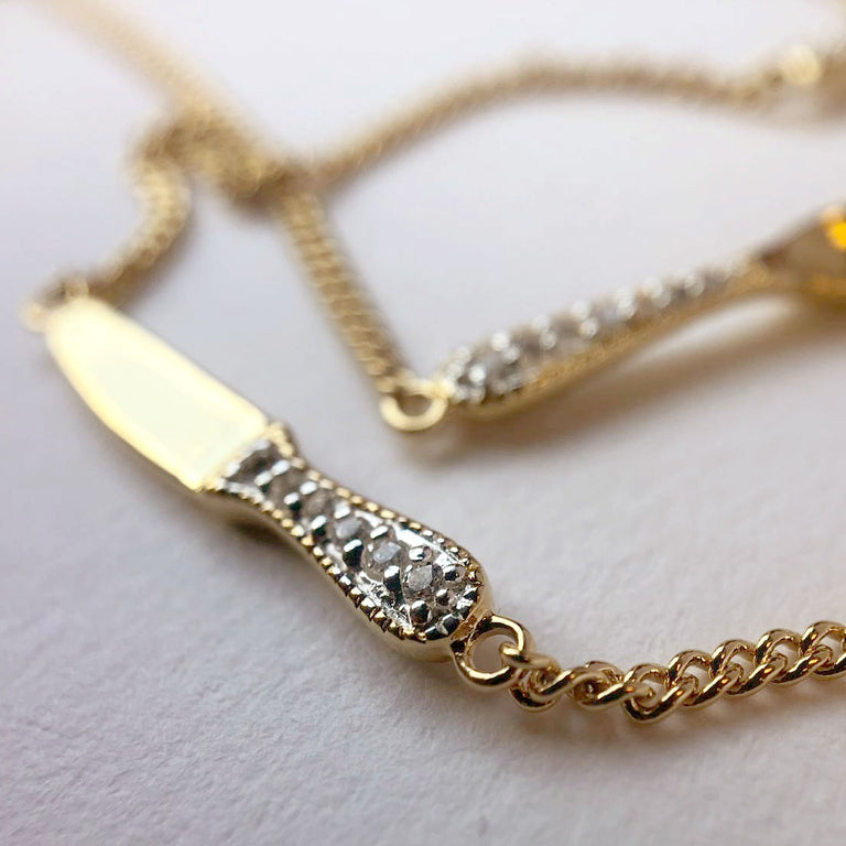 Precious cutlery necklace