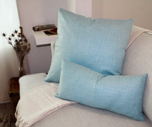 Load image into Gallery viewer, Linen Pillow, Pale Blue