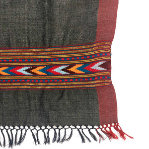 Hand Loomed Kullu Wool Scarf- Heather Grey