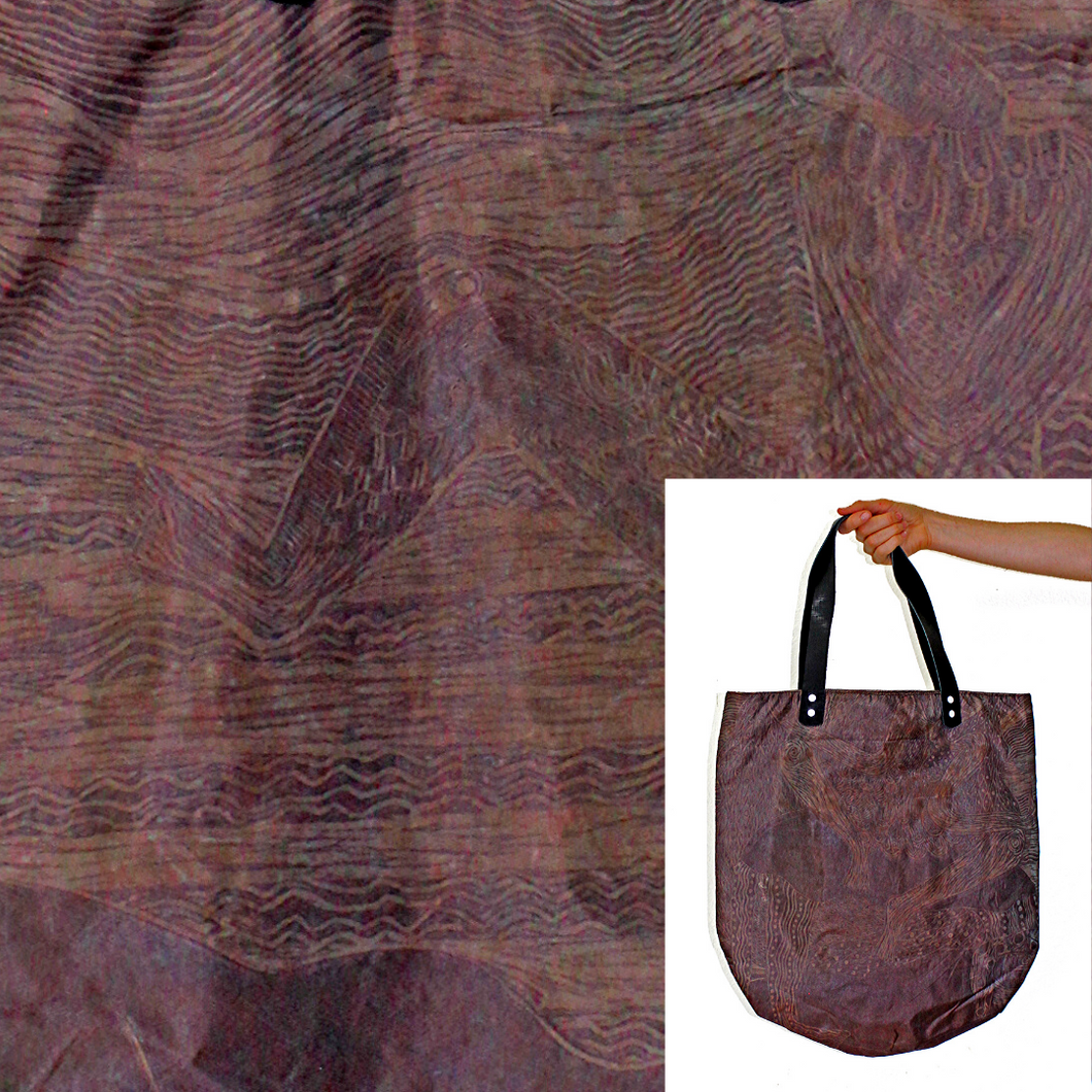 Whimsical Water-Resistant Bag, Copper Irradescent