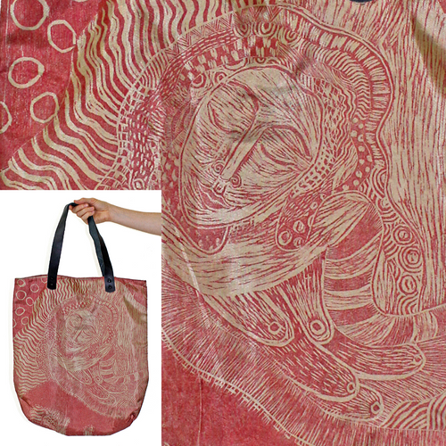 Whimsical Water-Resistant Bag, Rose Irradescent
