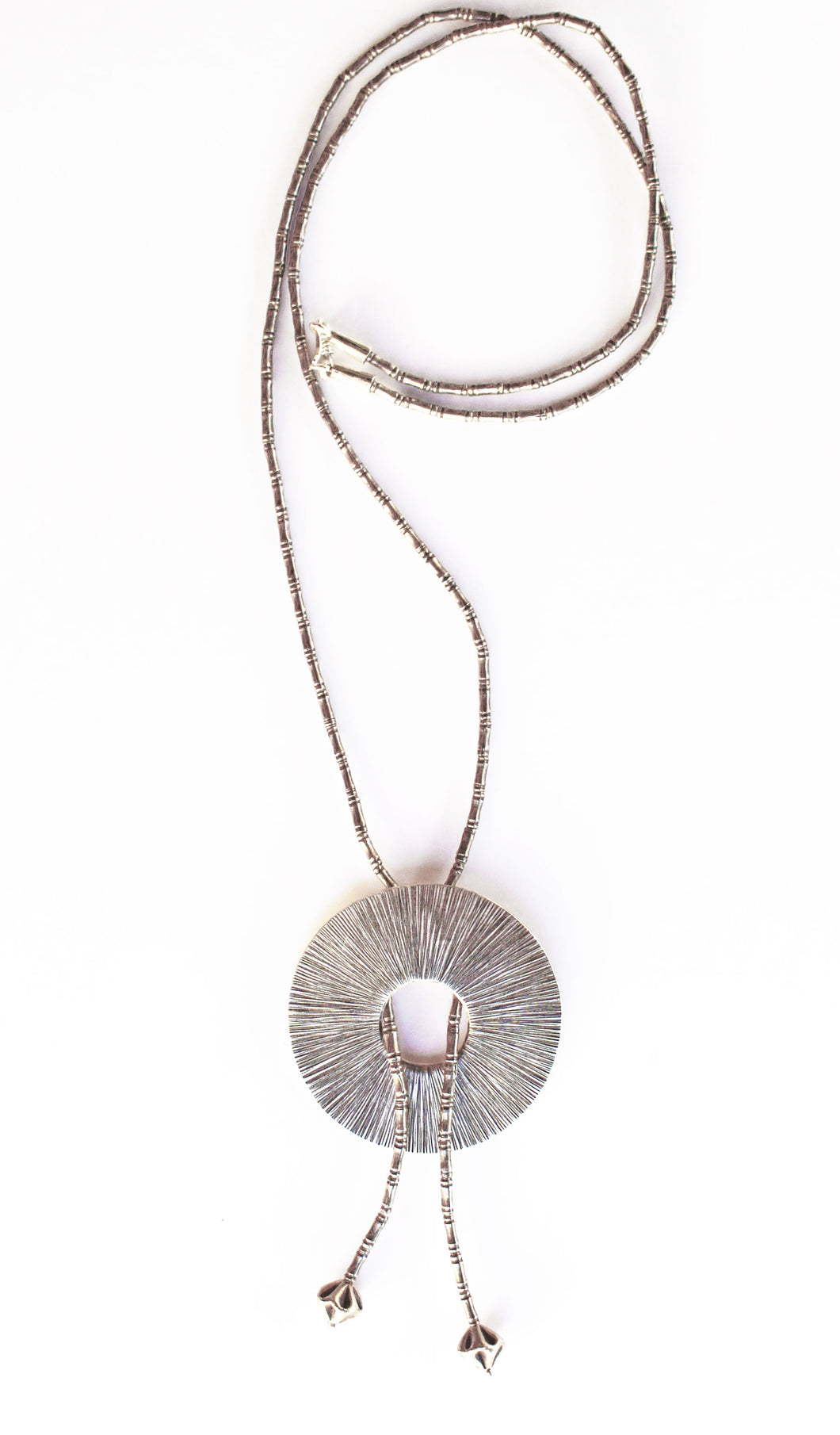 Hill Tribe Bolo Necklace, Pure Silver