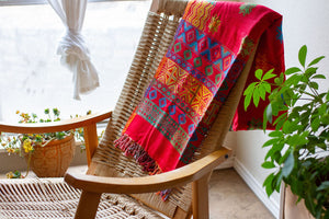 Bright Geo Shawl/Throw