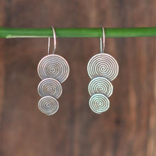 Load image into Gallery viewer, Triple Disk Hill Tribe Earrings