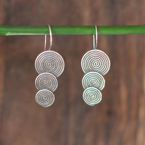 Triple Disk Hill Tribe Earrings