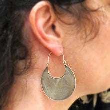 Load image into Gallery viewer, Silver Disk Hill Tribe Earrings