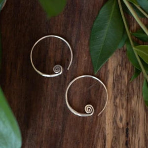 Spiral Cuff Hill Tribe Earrings
