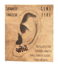 "Load image into Gallery viewer, Javanese ""Fire"" Ear Climber"