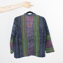 Load image into Gallery viewer, Hmong Jacket, Green Accents