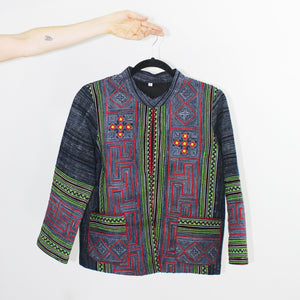 Hmong Jacket, Green Accents