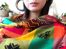 Load image into Gallery viewer, Bright Geo Bohemian Throw/Scarf - GadaboutGoods
