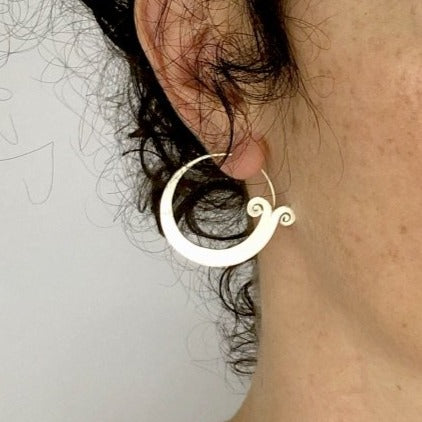 Fish Tail Hill Tribe Hoop Earrings