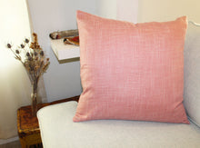 Load image into Gallery viewer, Linen Pillow, Rose