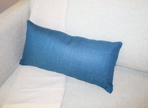 Linen Pillow, Blue