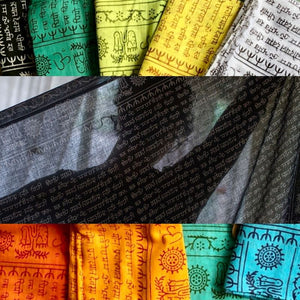 Cotton Mantra Sarong/Scarf/Beach Blanket/Etc, Various Colors