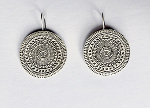 Silver Eye Hill Tribe Earrings